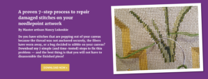 needlepoint artwork repair instructions download