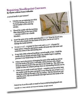Repairing Needlepoint Canvases document